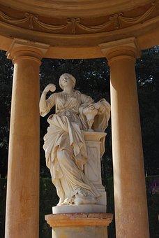 Statue, Woman, Sculpture, Pavilion, Art, Stone Figures