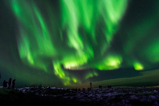 Aurora Borealis, Iceland, Northern, Sky, Night, Aurora