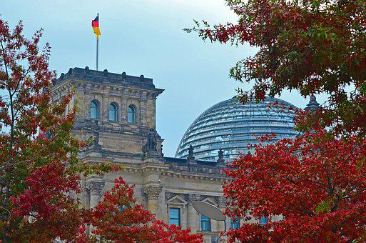 Reichstag, Berlin, Bundestag, Dome, Germany, Autumn