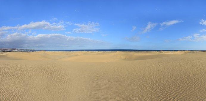 Dunes, Gran Canaria, Sand Dunes, Sea, Canary Islands