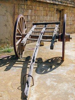 Cart, Old, Western, Car, Wild West, Benidorm, Neglected