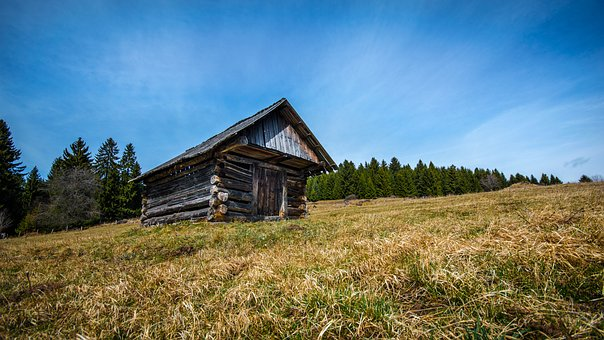 Old, Cottage, Mow, Wooden, Abandoned, Old Building