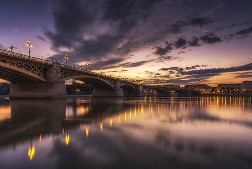 Architecture, Bridge, City, Dark, Dawn, Dusk, Evening