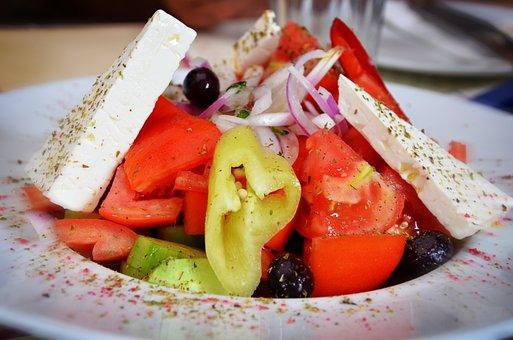 Salad, Greek Salad, Greek, Food, Healthy, Cheese