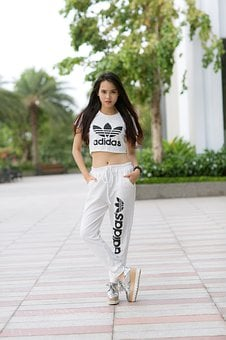 Sport, Adidas, Shirt, Street, People, Lifestyle, Girl