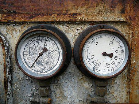 Old, Ad, Gauge, Technology, Fittings, Machine