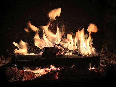 Fire, Winter, Hot, Fireplace, Mood, Light, Yellow