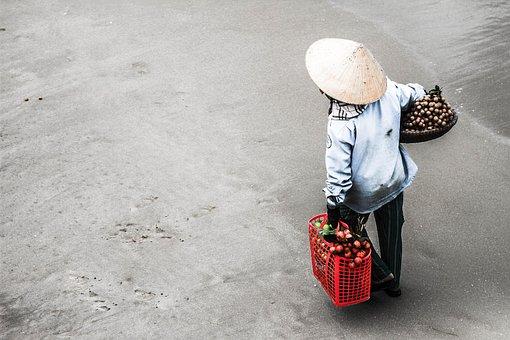 Beach, Farmer, People, Poor, Sell, Vietnam