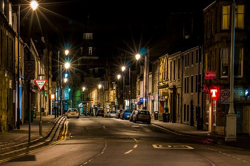 Night Scene, Scotland, Night, Scene, Europe, City, Uk