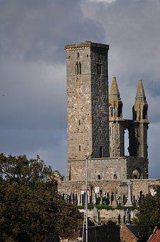 Scotland, St Andrews, The Cathedral, Crash, Monument