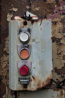 Buttons, Rust, Warehouse, Steel, Texture, Dirty