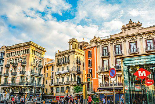 Barcelona, City, Urban, Colorful, Buildings