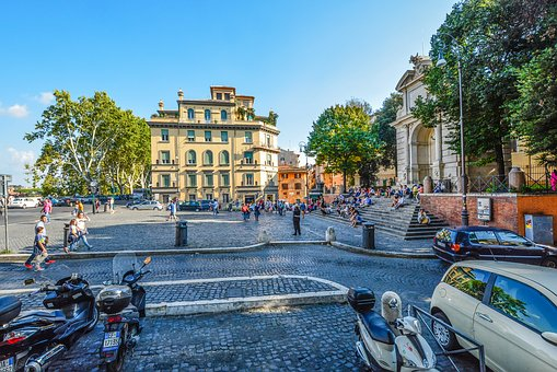Rome, Trastevere, Tourism, Travel, Italy, Piazza