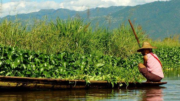 Boat, Burma, Asia, Water, Ethnic, Fishing, Tribal