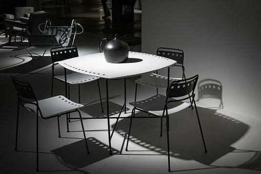 Black-and-white, Chairs, Contemporary, Design, Desk
