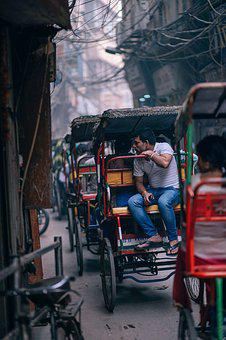 Adult, Along, Asian, Bazaar, Bicycle, Blur, Blurred