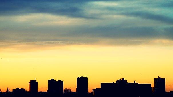 Architecture, Backlit, Buildings, City, Cityscape
