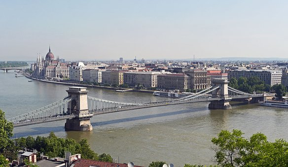 Budapest, Chain Bridge, Parliament, Danube, River