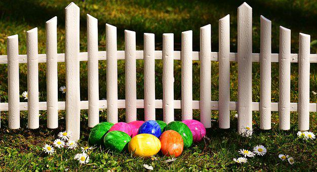 Easter, Easter Eggs, Garden, Fence, Easter Decor, Egg