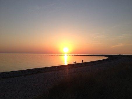 Sunset, Sea, Evening, Summer, Beach