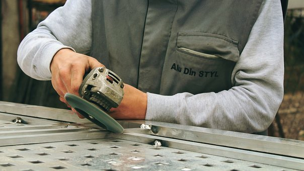 Grinder, Tools, Worker, Machine