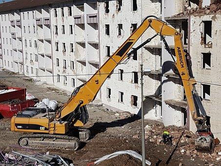 Crash, Demolition, House Demolition, Construction Work