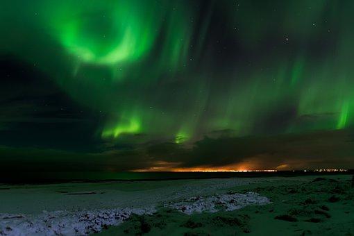 Iceland, Northern Lights, Aurora, Borealis, Northern