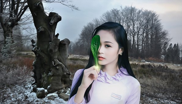 Woman, Female, Beauty, Cute, Magic, Magic Of Seasons