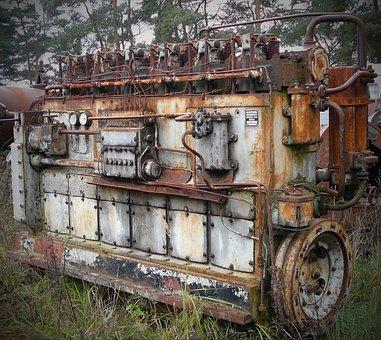 Tank Engine Engine, Panzer, Old, Stainless, Metal