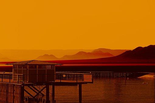 Sunrise, Background, Nature, Morning, Panorama, Desert