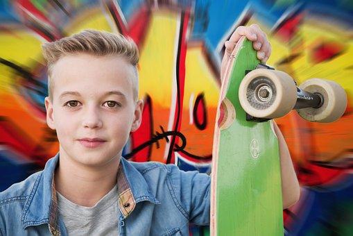 Longboard, Skateboarder, Skateboard, Juged, Portrait