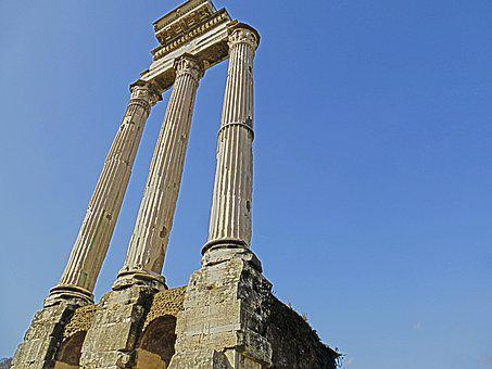 Columns, Rome, Ancient Rome, Temple, Italy, Europe