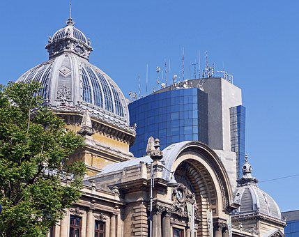 Bucharest, Roof Landscapes, Antique, Modern, Bank