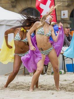 Dance, Girl, Woman, Beach, Sexy, Happy, Party, Disco