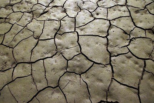 Mud, Drought, Soil, Cracks, Clay, Footprints, Earth