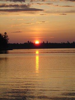 Sunset, Reflection, Water, Sun, Dusk
