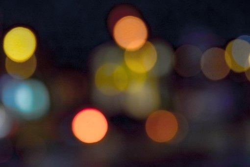 Bokeh, Light, Night, Traffic