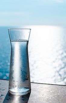 Water, Carafe, Sea, Sun, Drink, Refreshment