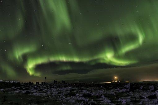 Iceland, Northern Lights, Aurora, Borealis, Winter