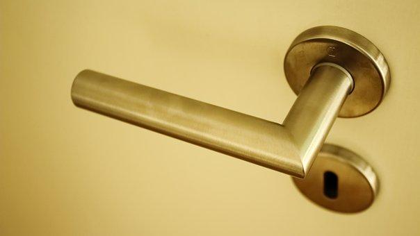 Door Knob, Metal, Close, Input, Door Handle, Old, Door