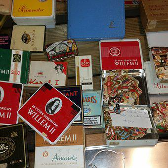 Collecting, Second Hand, Cigars, Cans, Boxes