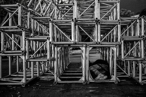 Homeless, Beggar, Sleeping, Street, Life, Poor, City