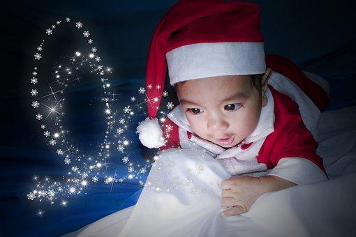 Baby, Santa, Cute, Christmas, Kid