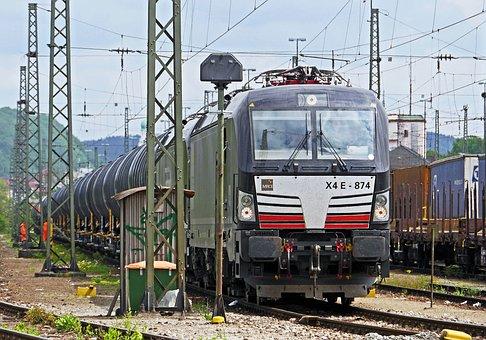 Freight Train, Marshalling Yard, Passau