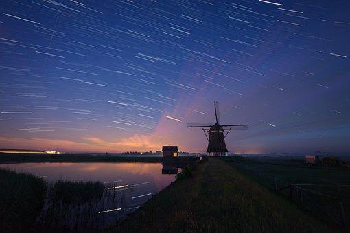 Stars, Starry Sky, Sky, Night Sky, Star, Star Trail