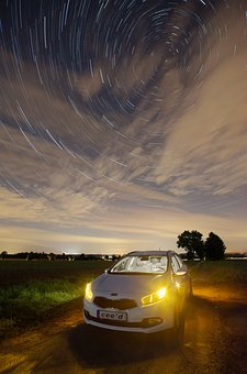 Star Trail, Night, Tracer, Starry Sky, Night Sky, Star