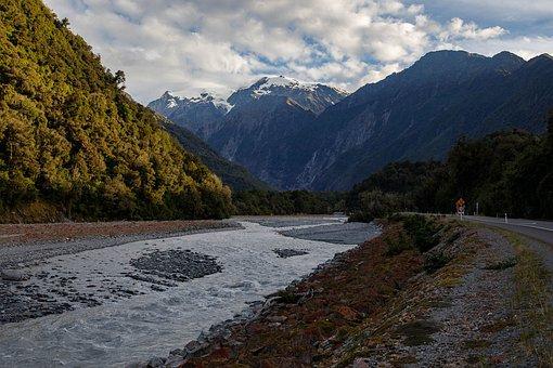 New Zealand, Mountains, Glacier, Tourism, Sunny Days