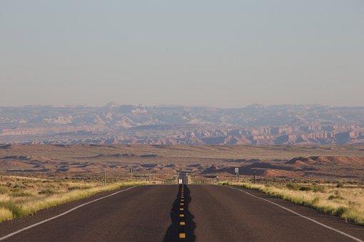 Road, Usa, Landscape, Nature, Panorama