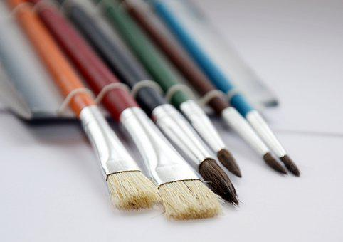 Brush, Drawing, Watercolor, Set, Art