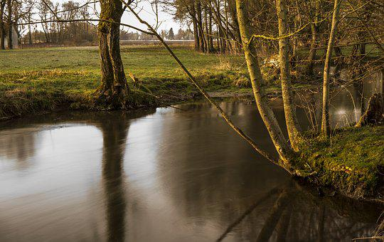 Long Exposure, Bach, River, Water, Nature, Waters, Flow